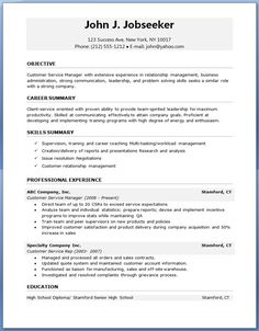 free resume job templates