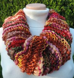 """Cowl, which you can wear around your neck or on the head. Many variations and many colors :-) Measurement: Scarflette length is ~ 31""""x16"""" (~ 80x40 cm.) Composition: - 48 % Rayon made from Bamboo, 44 % Wool + 8 % Acrylic - multicolor Handmade with ♥ $11.46 USD Cowls, Composition, Bamboo, How To Wear, Handmade, Hand Made, Craft, Being A Writer, Neck Warmer"""