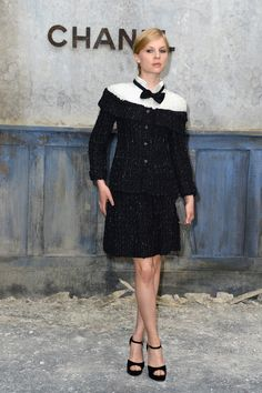 Clemence Poesy attending Chanel Haute Couture Fall 2013