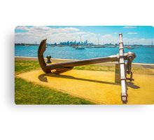 The Anchor at Hobson's Bay Marina - Williamstown, Victoria Metal Print