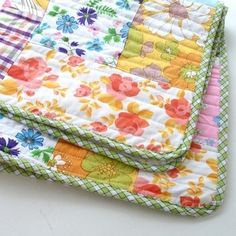 quilts-vintage sheets. lovely