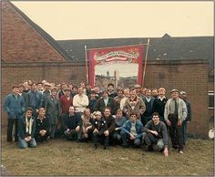 Newstead colliery miners NUM branch on the sunday before going back to work, after the strike in March Fifty two men and one woman. Billy Elliot, England, Coal Mining, Two Men, Nottingham, My Childhood, Britain, Dolores Park, Pride