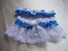 Lace garter Wedding garter set Blue bridal garter by Hoalanebridal, $19.00 #weddings #brides #prom