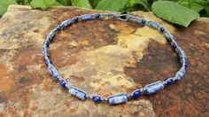 Check out this item in my Etsy shop https://www.etsy.com/listing/483408173/mens-hemp-necklace-lapis-lazuli-handmade
