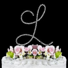 RENAISSANCE MONOGRAM WEDDING CAKE TOPPER LARGE LETTER L by Other *** Instant discounts available  : Baking decorations
