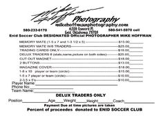 Youth Sports Photography Order Form  Sports Photography  Design