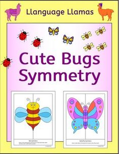 Symmetry - Bugs from Llanguage Llamas on TeachersNotebook.com (18 ...