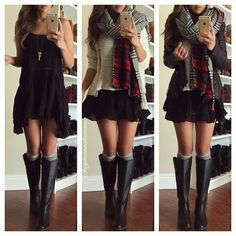 """""""Boots and dress from @dailylook @dailylook 
