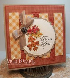 Fall Thank You - love the layout for any card!