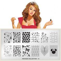 Princess Plate Collection 14 - XL Addition     moyou.co.uk | info@moyoumarketing.com #nailart #moyoulondon #stamping #pinup #manicure #manicura #princess #princesa #cute #kawaii #girly