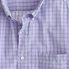 Slim Secret Wash lightweight shirt in Adams tattersall J. Crew 64.50