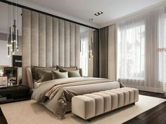 Modern Luxury Bedroom, Master Bedroom Interior, Luxury Bedroom Design, Room Design Bedroom, Modern Master Bedroom, Bedroom Furniture Design, Home Room Design, Luxurious Bedrooms, Home Decor Bedroom
