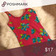 Hollister Pink Floral Tank Top Excellent condition. No flaws. Hollister Tops Tank Tops