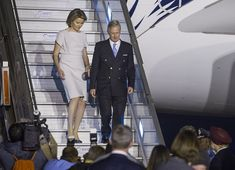 King Philippe and Queen Mathilde arrived in New Delhi. The King and the Queen were welcomed by Minister of Foreign Affairs of India at Delhi Airport.