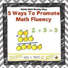 Five easy ways to promote math fluency in your classroom. Check out this blog post! ~ Math Facts Pro