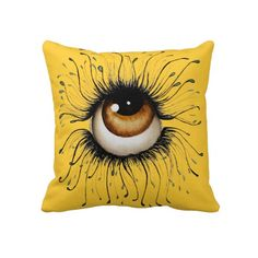 The Gaze Art Throw Pillow by SimonaMereuArt