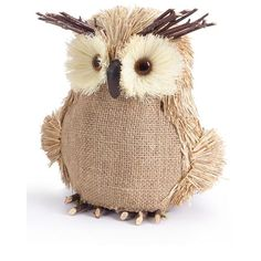Melrose Gifts Burlap Owl found on Polyvore