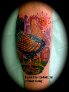 Rooster Tattoo #JeremiahHanzey #StainedSkinSecondSkin