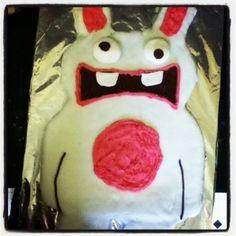 The Ramblings of a Formerly Rock'n'Roll Mum.: 9 years and a Rabbid Cake. Rayman Raving Rabbid Cake!