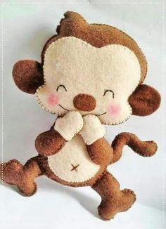 Print monkey template - Instructions Source by Felt Animal Patterns, Stuffed Animal Patterns, Sewing Stuffed Animals, Felt Mobile, Felt Baby, Felt Decorations, Felt Christmas Ornaments, Felt Fabric, Felt Dolls