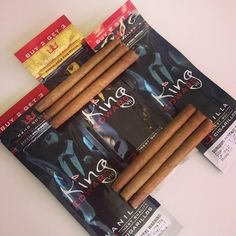 Getting ready for the weekend, make sure you have a king cigar on hand. #TheKingCigar #Cigarillo #rillo #cigarillos #cigar #premium #handrolled #vanilla #original #naturalleaf #wrapper #botl #smoke #relax #relaxing #FollowTheKing #PartyLikeARoyal