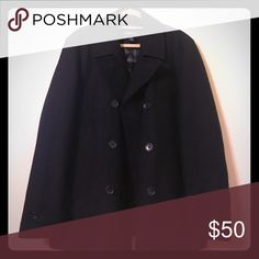 Black Claiborne Wool-blend Peacoat - Large (EUC) Men's Claiborne wool-blend peacoat.  Double-breasted with interior welt pockets.  Lightly used with no visible damage or missing buttons. Claiborne Jackets & Coats Pea Coats