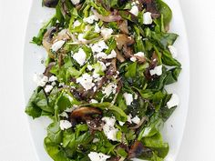 Get Warm Spinach Salad Recipe from Food Network