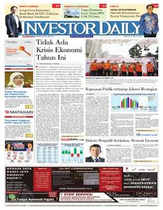 Investor Daily - 25 Juli 2016   Tidak Ada Krisis Ekonomi Tahun Ini   Investor Daily