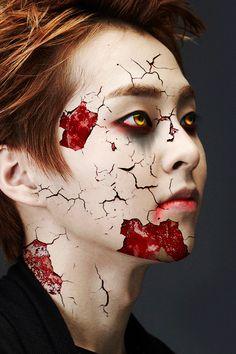 EXO's Halloween special: Kim Minsinister Kpop Fanart, Baekhyun Fanart, Chanyeol Baekhyun, Exo Style, K Pop, 5 Years With Exo, Exo Monster, Kim Minseok Exo, Exo Stickers