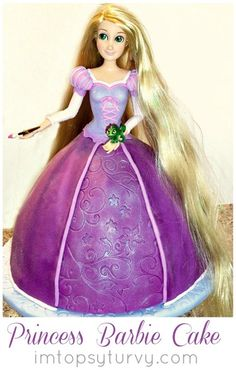 can't even show her how this looks or she'll tell me she has to have it!!!  :) i hope i can make it!   princess cake tutorial by I'm Topsy Turvy