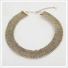 Fortune Favors the Brave - Flat Chain Collar. $260