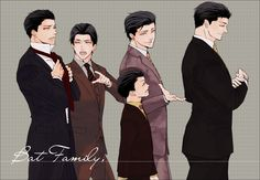 Fanart: Jason Todd, Tim Drake, Dick Grayson, Damian Wayne, Bruce Wayne
