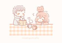 Cute Cartoon Images, Cute Love Cartoons, Anime Neko, Kawaii Anime, Simple Anime, Chibi Couple, Cute Couple Art, Cute Kawaii Drawings, Cute Art Styles