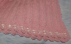 Free Knitting Pattern - Preemie Clothes: Ribbon Edged Preemie Baby Blanket