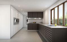 Smart skillevæg/hjørne i køkken