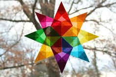 Moey's Heart & Hearth: Simple Window Stars Tutorial - super easy and something i think the kids would like to do