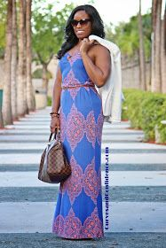 Curves and Confidence | A Miami Style Blogger: Make it Werk: Maxi Dress
