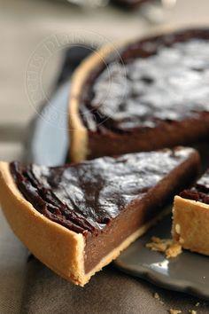 Chocolate custard tart les petits plats de trinidad: Flan pâtissier au chocolat