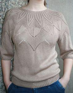 Suéter de punto con pechera redonda
