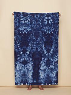 shibori silk scarf from Upstate