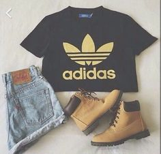 Image de adidas, fashion, and outfit Look Fashion, Girl Fashion, Womens Fashion, Fashion Beauty, Manhattan, Look Adidas, What Should I Wear, Adidas Outfit, Dope Outfits
