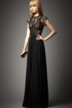 Elie Saab - Pre-Fall 2012 For the love of evening gowns.Elie Saab never disappoints! Dresses Elegant, Black Prom Dresses, Pretty Dresses, Bcbg Dresses, Formal Dresses, Dress Black, Black Gowns, Fashion Dresses, Lace Dresses