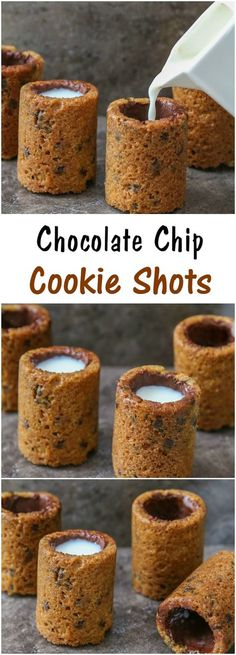 Chocolate Chip Cookie Shot Glasses!