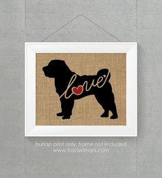 Shar-Pei Shar Pei Love  Burlap or Canvas by TraciWithaniDesigns