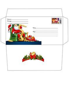 Шаблон конверта Деду Морозу