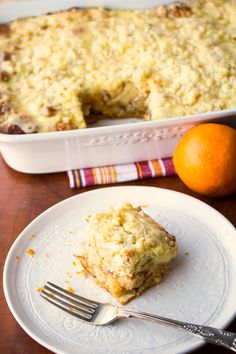 Orange Cream French Toast Bake | Two in the Kitchen vv