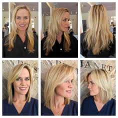 This short cut frames Meredith's face so well. Can you see a little Reese Witherspoon resemblance peeking through? LOVE this transformation!