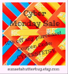 #SunsetShutterbug Handmade for the #Holidays #CyberMonday Sale: use code CYBERSFETSY #photograph #prints #greetingcards