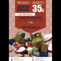 Promoción Marzo - ULTIMOS DIAS - Zapatillas únicas y con estilo. No te quedes sin ellas. Zapatillas #Toucane por 35€ Y de regalo 3 pares de #Calcetines con el código T-RL #sneakers #UnicsCadmium #UPV #ColourSneakers #ElCaloret #YaEstemEnFalles #CaloretStyle #UPV