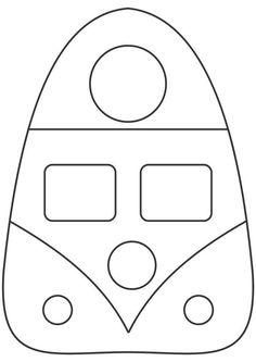 Artesanato tudo de bom e Riscos: Molde lixeirinha para carro modelo kombi